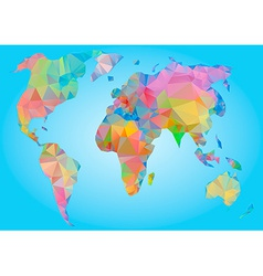 World Map Polygonal triangle geometric vector image