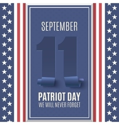 Patriot Day background vector image