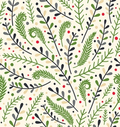 Floral holiday pattern vector image