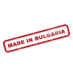 Made in bulgaria rubber stamp vector