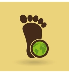 ecology concept with footprint vector image