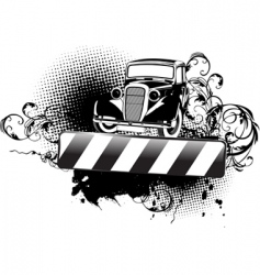 grunge vintage car vector image