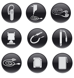 Mobile devices accessories vector