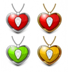 heart shaped necklace vector image