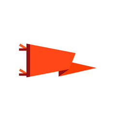 Adventure pennant in flat style flag icon vector