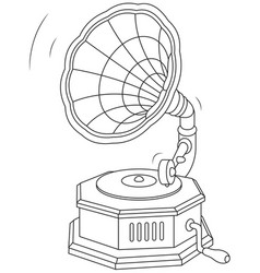 old vintage gramophone vector image