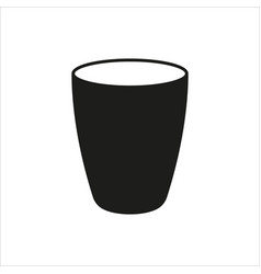 Cup icon in simple monochrome style icon vector