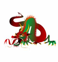 colour dragon vector image