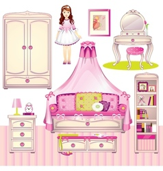 girls room vector image