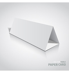 3d table paper card isolated on a grey background vector image