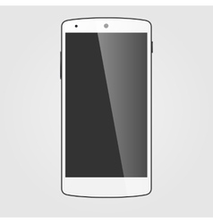 Modern white touchscreen cellphone tablet vector