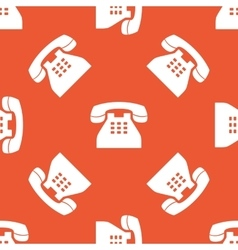 Orange phone pattern vector