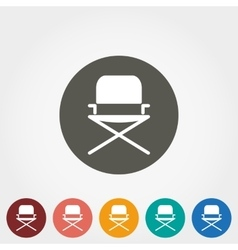 Camping chair icon vector