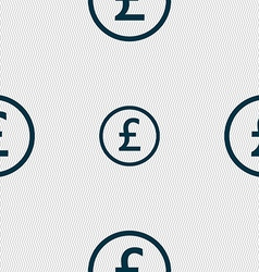 Pound sterling icon sign seamless abstract vector