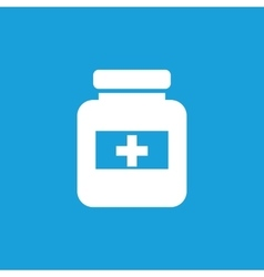 Drug jar icon white vector
