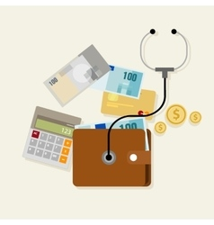 Financial money management checkup planning vector