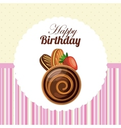Pastry icon happy birthday design graphic vector