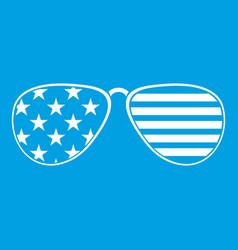American glasses icon white vector