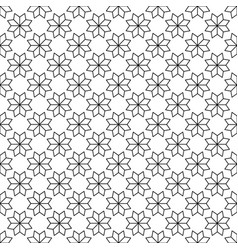black flower star japanese seamless on white vector image vector image