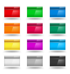 Color set of computer windows on white vector