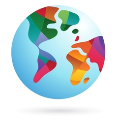 Colorful world earth icon vector