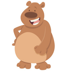 Comics bear animal character vector