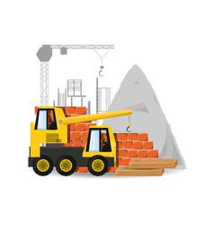 Crane under construction concept vector