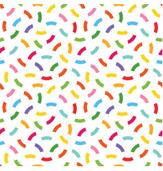 cute colorful confetti seamless pattern background vector image