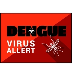 Dengue virus allert outline vector