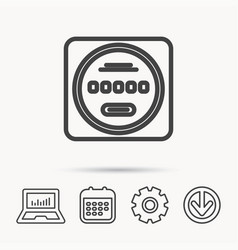 Electricity power counter icon measurement sign vector
