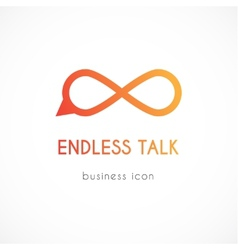 Endless talk symbol icon vector