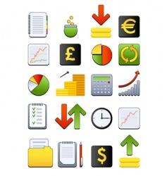 financial web icon vector image vector image