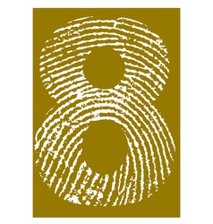 Fingerprint Alphabet No 8 vector image vector image