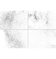 Grainy texture on white set vector image vector image