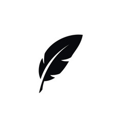 Isolated nib icon plume element can be vector