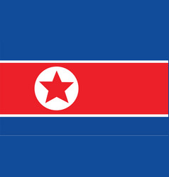 Korea north flag for independence day and vector
