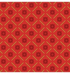 Line flower geometric seamless pattern 5410 vector image