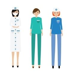 Medical women team nurse paramedic doctor vector
