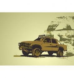 military vehicle vector image vector image