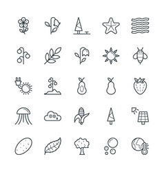 Nature cool icons 4 vector