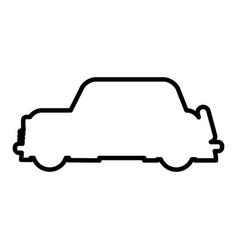Outlined car vehicle transport modern desing vector