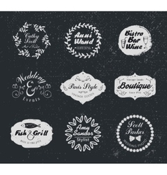 Retro vintage logotypes and insignias set vector