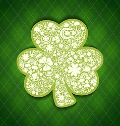 st patricks days card of white objects on irish vector image vector image