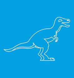 theropod icon outline style vector image vector image