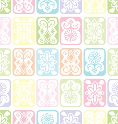 Tile ornament soft vector image vector image