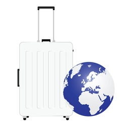 travel baggage with planet earth vector image