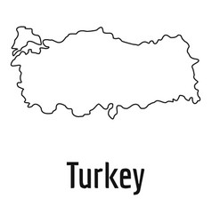 turkey map thin line simple vector image