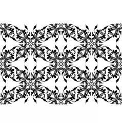 Vintage abstract geometric floral classic pattern vector