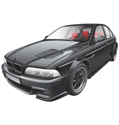 Black custom car vector