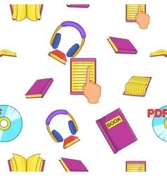 Reading pattern cartoon style vector